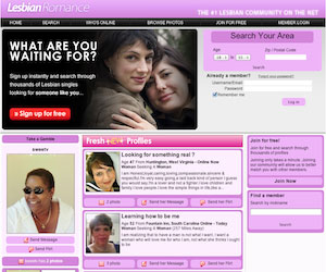 LesbianRomance.com - the largest databases out of all the dating sites in this category
